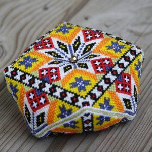 Norwegian Bunad Biscornu Pincushion