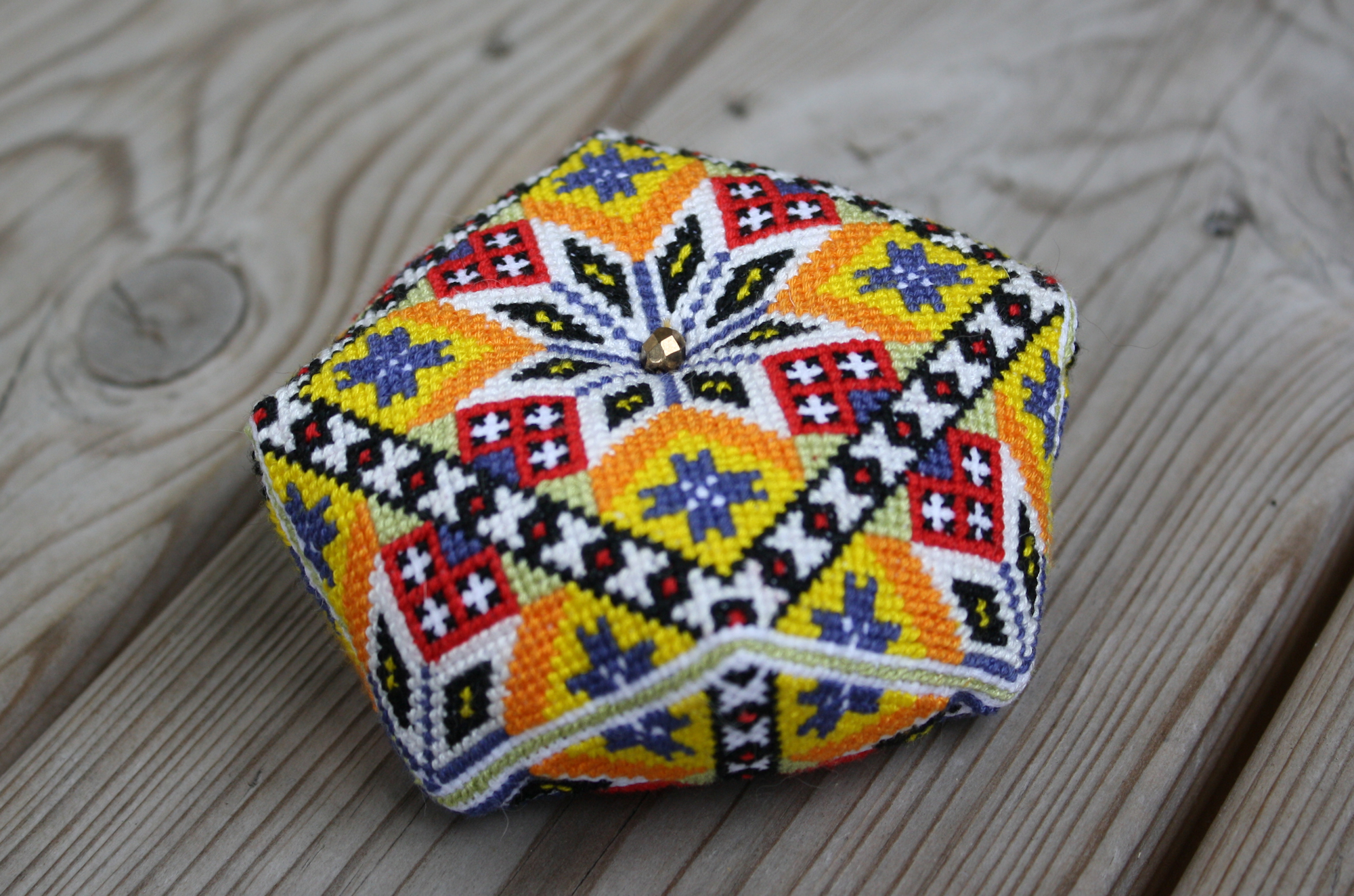 Norwegian Bunad Biscornu Pincushion