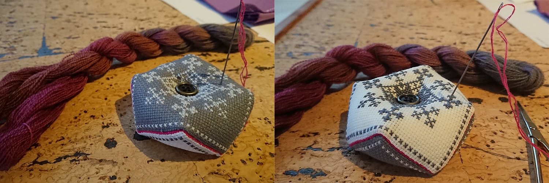 Tutorial on how to make a biscornu / pincushion