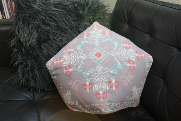 The very large and timeconsuming decorative biscornu pillow