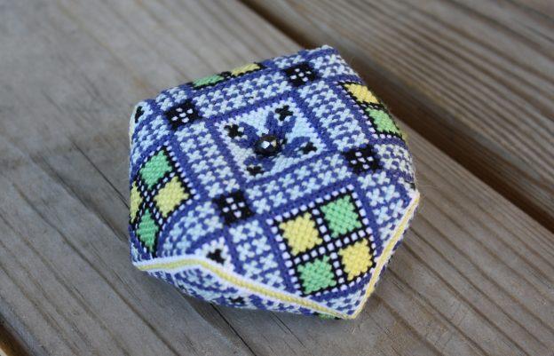The Third Norwegian Bunad Biscornu Pincushion Mrs Nielsen Embroidery